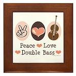 Peace Love Double Bass Framed Tile