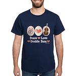 Peace Love Double Bass Dark T-Shirt