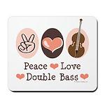 Peace Love Double Bass Mousepad