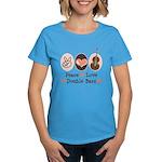 Peace Love Double Bass Women's Dark T-Shirt