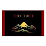 FREE TIBET Rectangle Decal