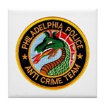 Philly Anti Gang PD Tile Coaster