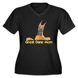 CFlo Great Dane Mom Women's Plus Size V-Neck Dark