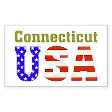 Connecticut USA Rectangle Sticker 10 pk)