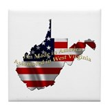 Cute Made in west virginia Tile Coaster