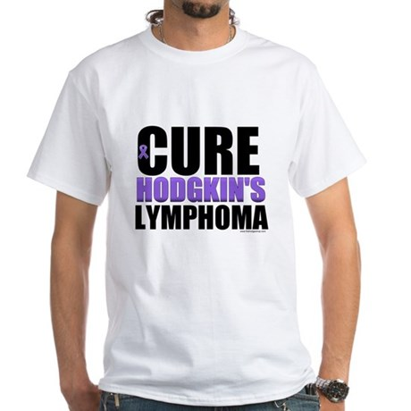 Cure Hodgkin's Lymphoma White T-Shirt