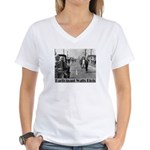 Watts Riots Women's V-Neck T-Shirt