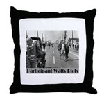 Watts Riots Throw Pillow