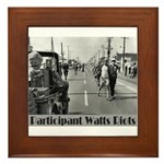 Watts Riots Framed Tile