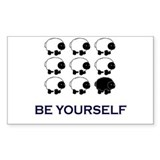 Black Sheep Rectangle Sticker 10 pk)