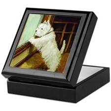 Waiting Westie Keepsake Box