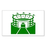 Green Stadium Rectangle Sticker 50 pk)