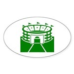 Green Stadium Oval Sticker (10 pk)