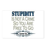 Stupid Criminals Postcards (Package of 8)