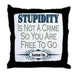 Stupid Criminals Throw Pillow