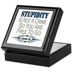 Stupid Criminals Keepsake Box