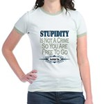 Stupid Criminals Jr. Ringer T-Shirt