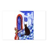 BLACK CAT Santorini 2 Postcards (Package of 8)