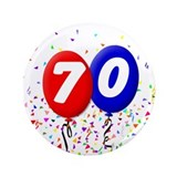 70th Birthday 3.5&quot; Button