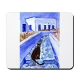 BLACK CAT Santorini Design 4 Mousepad