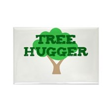 Tree Hugger Rectangle Magnet (10 pack)