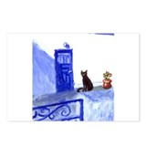 BLACK CAT santorini 9 Postcards (Package of 8)