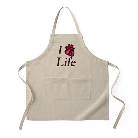 I heart life BBQ Apron