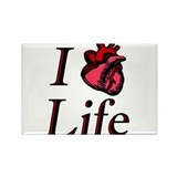 I heart life Rectangle Magnet