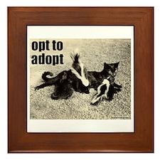 Opt To Adopt Cat Framed Tile