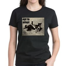 Opt To Adopt Cat Women's Dark T-Shirt