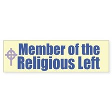 Religious Left Celtic Cross Bumper Bumper Sticker