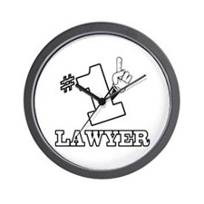 #1 - LAWYER Wall Clock