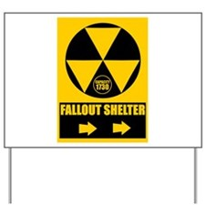 Fallout Shelter Sign Yard Sign