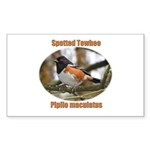 Spotted Towhee Rectangle Sticker 10 pk)