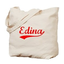 Vintage Edina (Red) Tote Bag