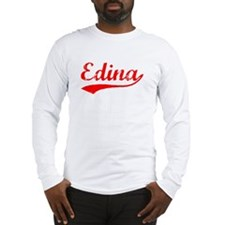 Vintage Edina (Red) Long Sleeve T-Shirt