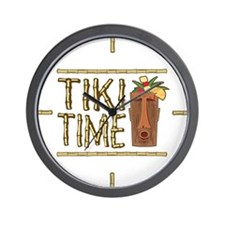 Tiki Time - Wall Clock