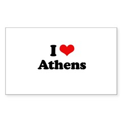 I love Athens Rectangle Sticker