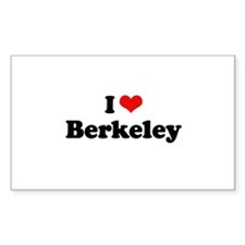 I love Berkeley Rectangle Sticker 50 pk)