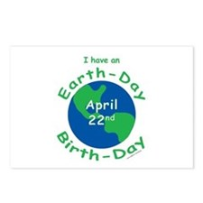 Earth Day Birthday Postcards (Package of 8)