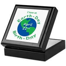 Earth Day Birthday Keepsake Box