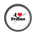 I love Fresno Wall Clock