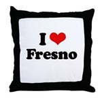 I love Fresno Throw Pillow