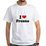 I love Fresno White T-Shirt
