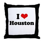 I love Houston Throw Pillow