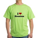 I love Houston Green T-Shirt