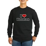 I love Houston Long Sleeve Dark T-Shirt