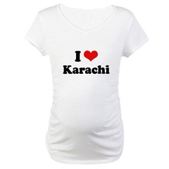 I love Karachi Maternity T-Shirt