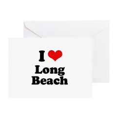 I love Long Beach Greeting Card