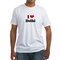 I love Delhi Fitted T-Shirt